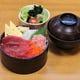 ◆ランチメニュー 海鮮まぐろづけ丼900円 サラダ・みそ汁付き