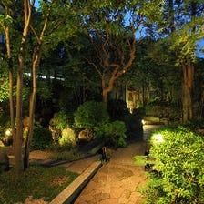 美しい庭園を眺めながら・・・