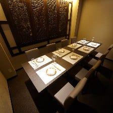 接待・会食にお勧めの個室席完備