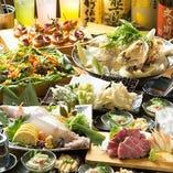 飲み放題付きコースは、4,000円~ご用意しています♪佐賀の美味しさがたっぷり詰まっています!
