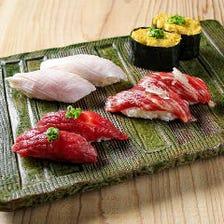 [厳選肉]こだわりの肉寿司