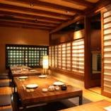 落ちついた雰囲気の個室は 各種ご宴会や接待にもおすすめ
