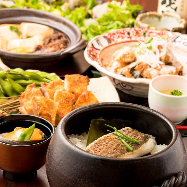 アラカルトを中心とした彩りコースは季節と牛タン料理をお楽しみ頂けます!