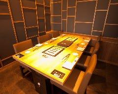 10名様から個室にできるテーブル例。