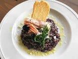 赤海老とムール貝の黒米リゾット