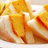 県内産の卵を使用した『たまごサンド』。四川山椒マヨがピリッと程よいアクセントに!