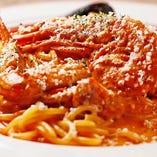 魚介のトマトクリームスパ