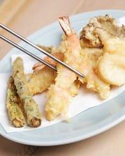 季節の旬な材料を使った天ぷら