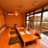 接待や顔合わせとしても使える掘りごたつ席完全個室(4~12名様×5部屋)