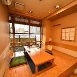 【少人数宴会】 ゆとりのある個室は和情緒溢れる寛ぎの空間です