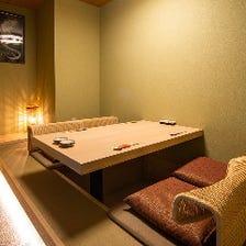 接待・会食にもご利用可能な個室完備