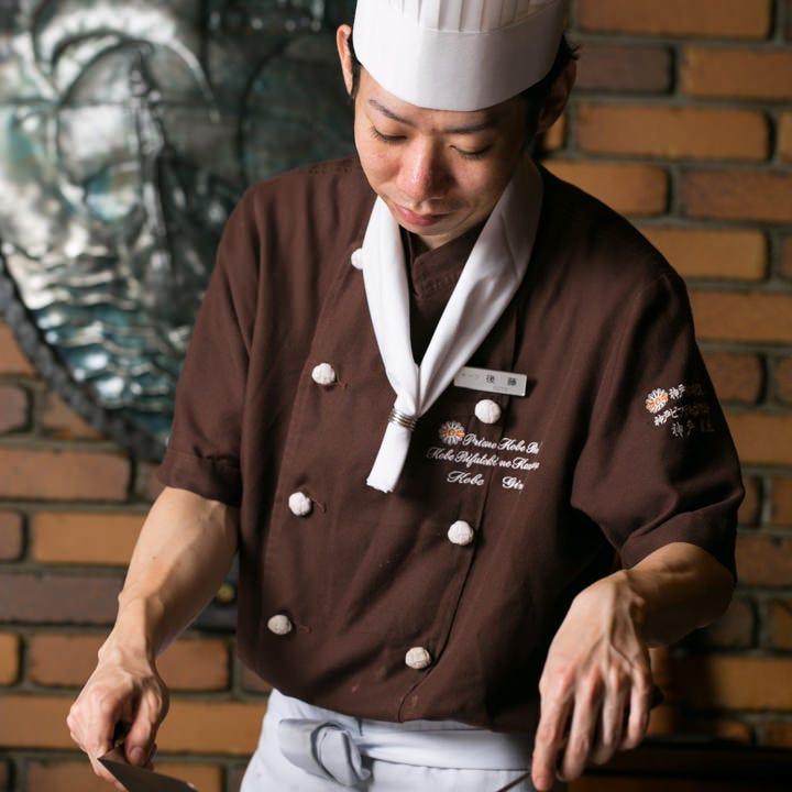 ステーキ職人の匠の技を堪能