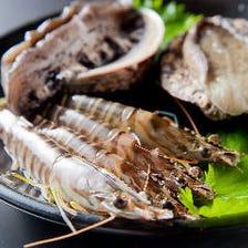 鮮度が魅力の海鮮も味わえる
