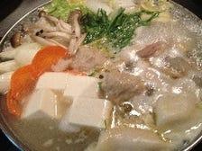 白湯鶏鍋を入れたコース