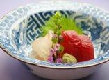 愛媛の旬魚を中心とした 素材を活かした京風一品料理