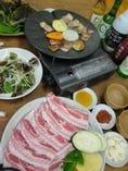 大好評の韓流豚バラ焼肉 サム ギョプ サル
