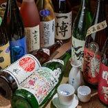 【種類豊富】 全国各地からプロの目利きで仕入れる自慢の日本酒