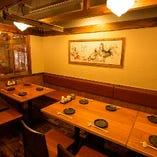 個室テーブル席8名様~10名様。