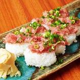 ねぎとろにぎり寿司