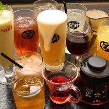 充実の全122品の単品飲み放題が人気