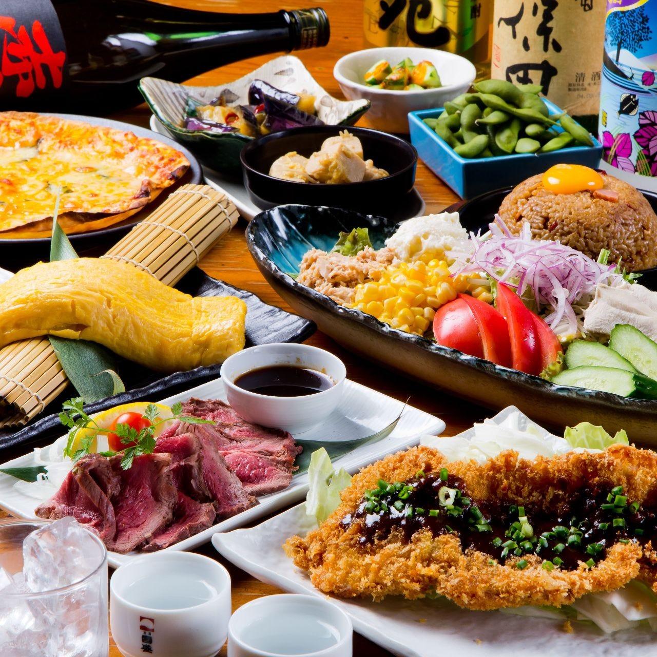 昭和食堂の定番商品を10品揃えた昭和名物コース!