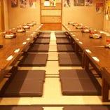 堀田での大人数宴会はおまかせ♪【《フロア貸切》2階:お座敷席(最大130名様)】