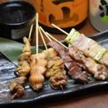 おまかせ串焼き盛合せ(6種6本)