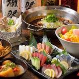 日本酒・おばんざいコースコース/全10品4,500円(税抜)