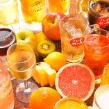 飲み放題は、約100種からお選びいただけます!