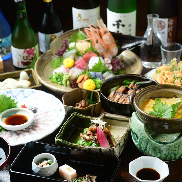 名物のうなぎやどうまん蟹など、浜松が誇る豊かな魚介をどうぞ