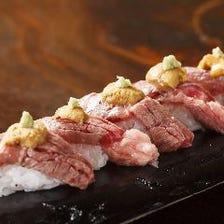 一度で二度美味しい贅沢なにく寿司