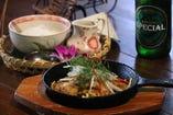 ハノイの料理 Cha ca la vong(なまずのターメリック炒め)