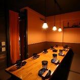 【全席個室】 ご利用人数によって使い分けができる個室を完備