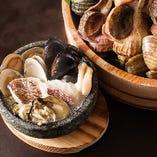 新鮮な魚介類と焼酎は相性抜群◎