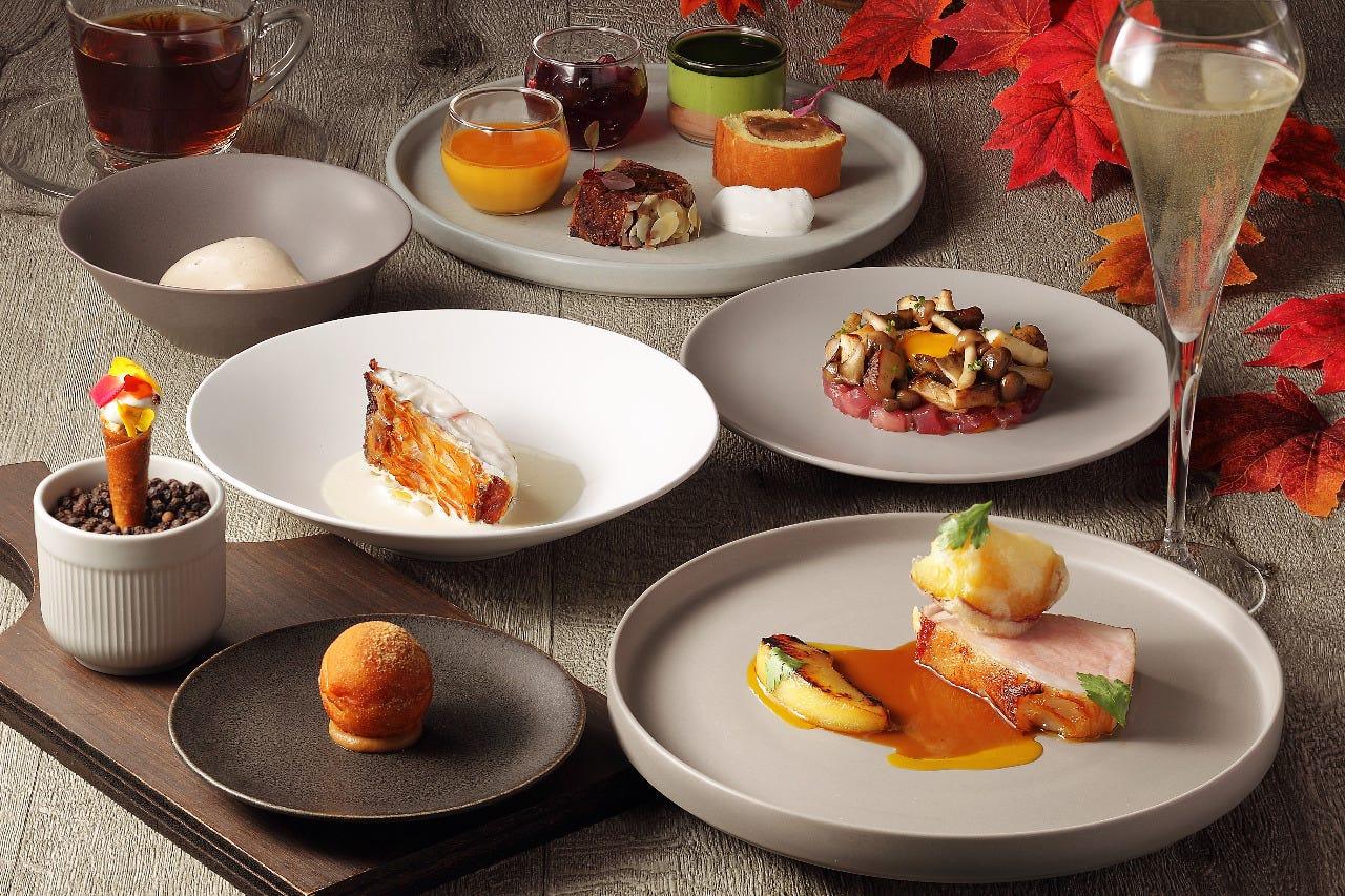 【ペアリングディナー】スタンダードコース・旬の食材を使用した、デザートまで楽しめる贅沢な秋限定コース