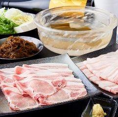 水晶鍋 バラ肉(霧降高原豚)