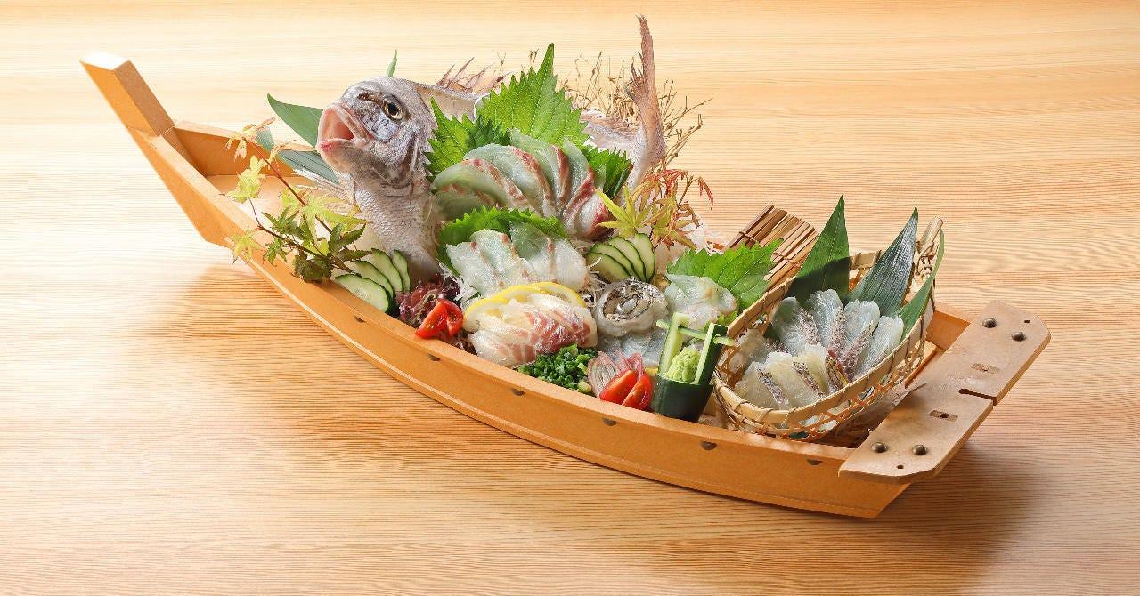 鯛の姿造り(お一人様+500円)でグレードアップ!