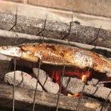 秋刀魚炭焼き