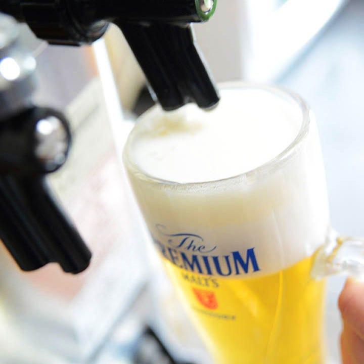 濃厚クリーミー♪当店のビールは泡が美味しいんです!