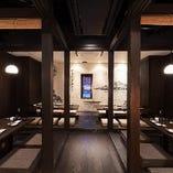 最大36名様まで ご利用可能な堀座敷個室