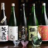 厳選した日本酒・焼酎を多数取り揃えています。