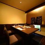 《1階テーブル個室》ご接待におすすめの上質空間【最大6名様】