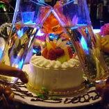 コースご予約の方にはメッセージプレート付ケーキをプレゼント