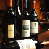 厳選したワインも多数ご用意しております。