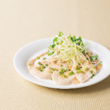ハーブ鶏と葱の胡麻ソース