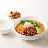 胡麻香る四川風担々麺セット~鶏の唐揚げ2コ・ミニごはんつき