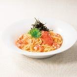 海老とたらこのスパゲッティ~北海道バター使用
