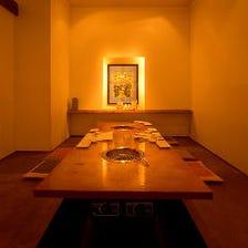 韓国風のモダンな個室で宴会を