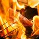≪豪快に焼く鰹の藁焼き≫