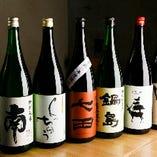 鴨料理に合う日本酒を各種取り揃え。